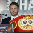 Ryan Burnett during a press conference ahead of his World Bantamweight Unification title fight at the Europa Hotel in Belfast. (Photo By Oliver McVeigh/Sportsfile via Getty Images)