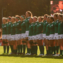 Ireland's players line up before their Women's World Cup match against Australia. Photo: Sportsfile