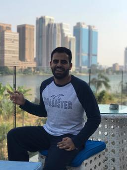 Ibrahim Halawa after his release from prison in Cairo