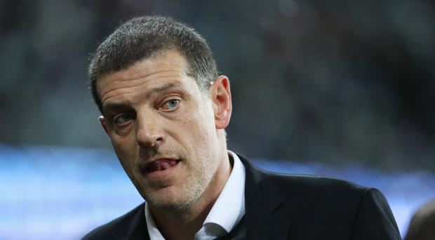 Slaven Bilic, Manager of West Ham United looks on prior to the Premier League match between West Ham United and Brighton and Hove Albion at London Stadium on October 20, 2017 in London, England. (Photo by Dan Istitene/Getty Images)