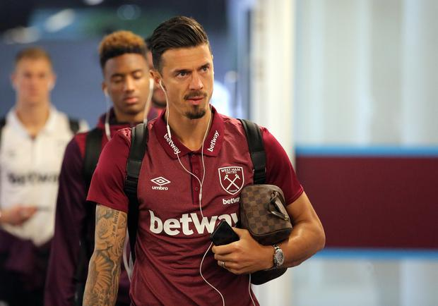 Jose Fonte of West Ham arrives prior to the Premier League match between West Ham United and Swansea City at the London Stadium on September 30, 2017 in London, England. (Photo by Athena Pictures/Getty Images)