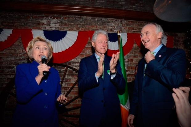 Hillary and Bill Clinton with John Fitzpatrick at a previous event