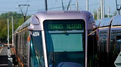 OUT OF SERVICE: The Luas was out of action for two days