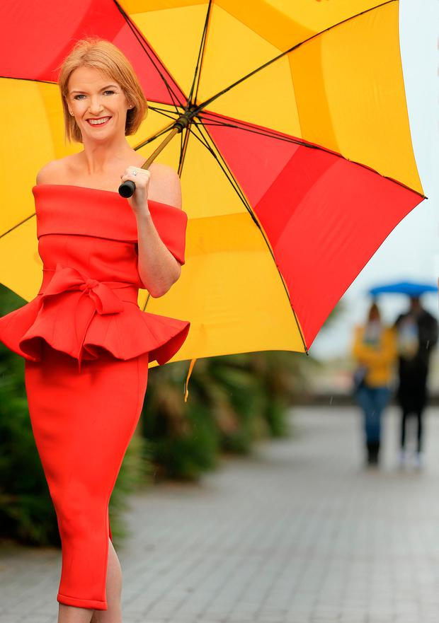 COMPLAINT: Met Eireann's Joanna Donnelly. Dress from Cari's Closet, Malahide. Make-up by Red Velvet. Photo: Gerry Mooney