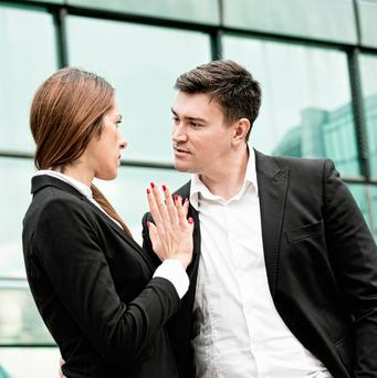 'Later, in the workplace, there were always the male colleagues who wanted more than friendship, but I never felt threatened by them.' (stock photo)