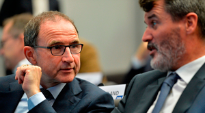 Martin O'Neill and Assistant Manager Roy Keane Photo: Sportsfile