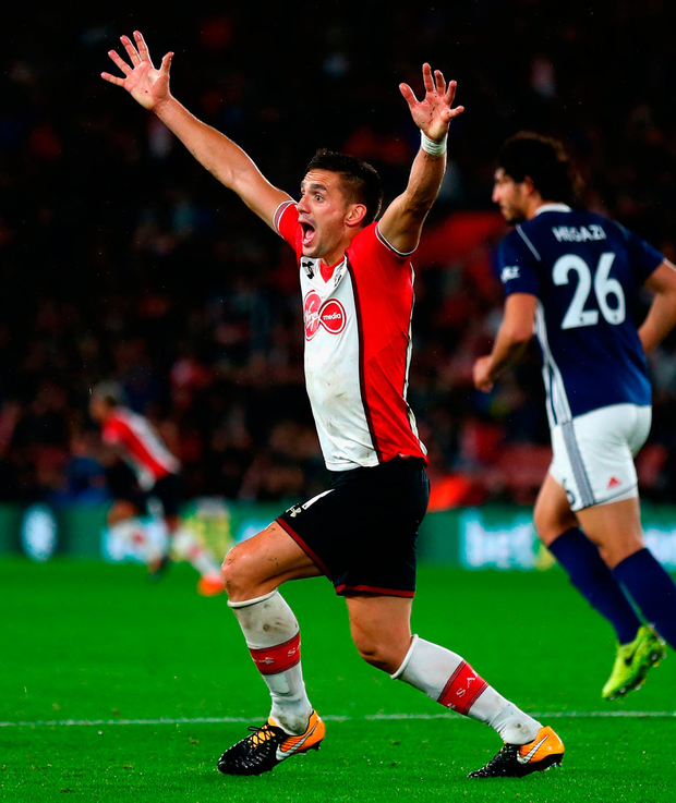 Dusan Tadic of Southampton appeals for penalty Photo: Getty