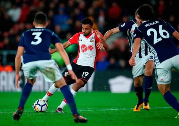 Sofiane Boufal of Southampton scores his sides first goal Photo: Getty