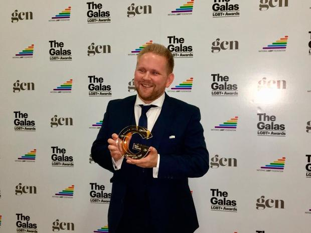 Independent.ie's Jason Kennedy won Journalist of the Year at the 8th annual GALAS