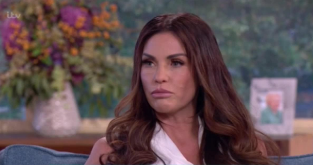 Katie Price on ITV's This Morning.