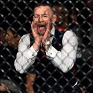 UFC lightweight champion Conor McGregor cheers on teammate Artem Lobov in his featherweight bout against Andre Fili during the UFC Fight Night event inside Ergo Arena on October 21, 2017 in Gdansk, Poland. (Photo by Jeff Bottari/Zuffa LLC/Zuffa LLC via Getty Images)