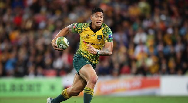 Israel Folau of the Wallabies