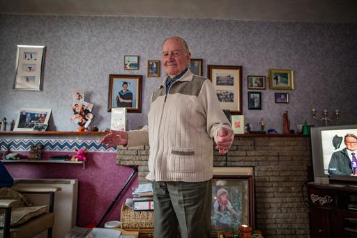 Michael Barrett, 90 years old, who still goes dancing, pictured at his home in Kilbarrack. Picture: Arthur Carron