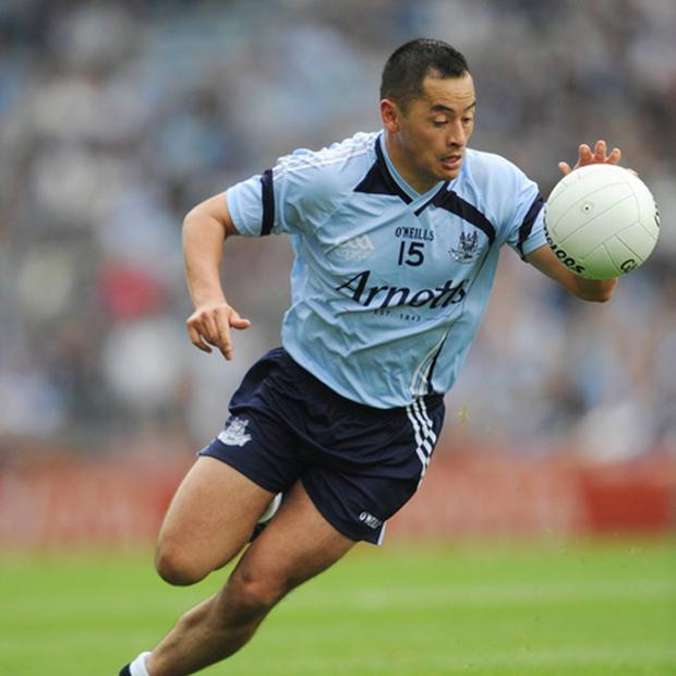 Jason Sherlock in action for Dublin in 2009