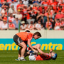 Conor Lehane of Cork is treated for an injury