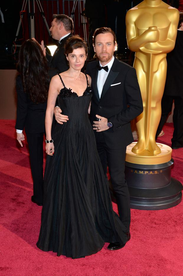 Actor Ewan McGregor and Eve Mavrakis attends the Oscars held at Hollywood & Highland Center on March 2, 2014 in Hollywood, California. (Photo by Michael Buckner/Getty Images)