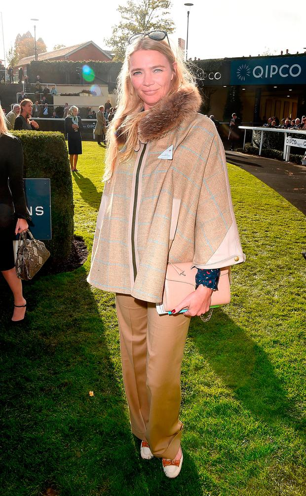 Jodie Kidd during the QIPCO British Champions Day at Ascot Racecourse on October 21, 2017 in Ascot, United Kingdom. (Photo by Eamonn M. McCormack/Getty Images for Ascot)