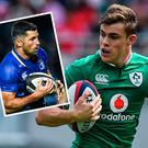 Garry Ringrose and (inset) Rob Kearney