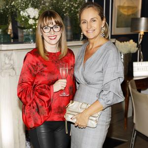 Laura Davidson and Debbie O'Donnell at the Marks & Spencer Autumn Winter 17 Showcase. Picture: Kieran Harnett