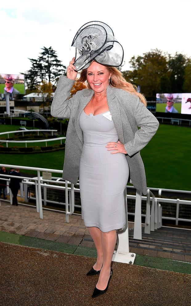 Carol Vorderman attends the QIPCO British Champions Day at Ascot Racecourse on October 21, 2017 in Ascot, United Kingdom. (Photo by Eamonn M. McCormack/Getty Images for Ascot)