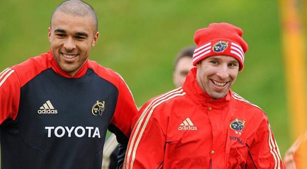 Simon Zebo and Tomás O'Leary