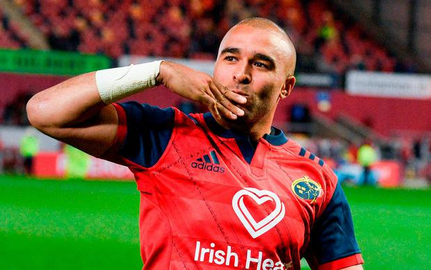 Simon Zebo will bid farewell to Munster at the end of the season. Photo: Diarmuid Greene/Sportsfile
