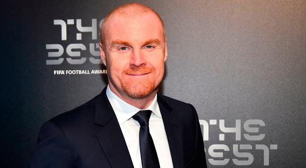 Burnley manager Sean Dyche poses for a photograph as he arrives for the Best FIFA Football Awards ceremony in London. Photo: AFP/Getty Images