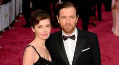 (L-R) Eve Mavrakis and Ewan McGregor attend the Oscars held at Hollywood & Highland Center on March 2, 2014 in Hollywood, California. (Photo by Kevork Djansezian/Getty Images)