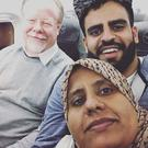 Ibrahim Halawa en route to Ireland with his sister, Nasaybi, and Ambassador to Egypt Sean O'Regan