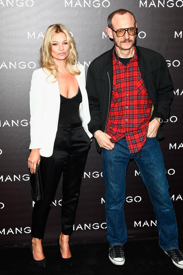 Kate Moss and Terry Richardson attend the Mango new collection launch at Centre Pompidou on May 17, 2011 in Paris, France. (Photo by Julien M. Hekimian/Getty Images)