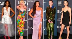 (L to R) Kelly Rowland, Elle Fanning, Demi Lovato, Kate Bosworth and Selena Gomez at the InStyle Awards