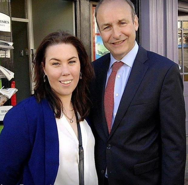 Emma Coffey pictured with Michael Martin (via Facebook)