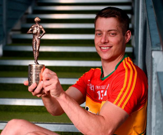 Carlow's Paul Broderick won the Footballer of the Month for May, but wasn't nominated for an All-Star. Photo by Cody Glenn/Sportsfile