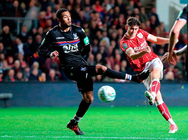 Bristol City's Callum O'Dowda scores his side's fourth goal