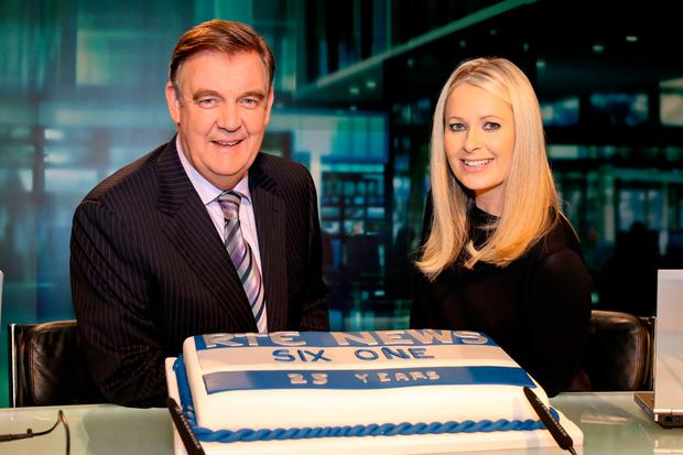 Bryan Dobson is planning drinks with his 'Six One News' co-anchor Sharon ní Bheolain and other colleagues