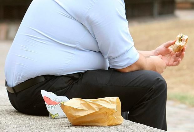 Some 70pc of men are overweight or obese in Ireland compared with 53pc of women. Stock picture