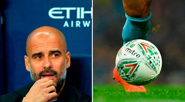 'I'm sorry Carabao Cup, but that is not a serious ball for a serious competition'. CREDIT: GETTY IMAGES
