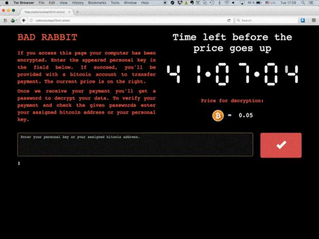 According to the Bad Rabbit ransom screen, the fee is set to rise / Kaspersky Lab