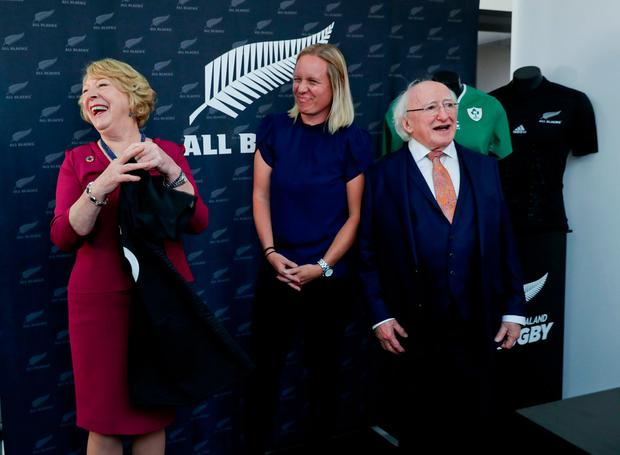25-10-17.. State Visit to New Zealand by President of Ireland Michael D Higgins and Sabina Higgins 24th - 29TH October. Pic Maxwell's