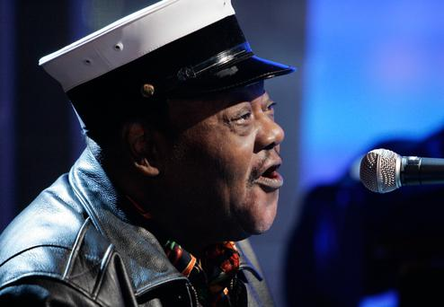 In this Nov. 9, 2007 file photo, music legend Fats Domino performs on the NBC