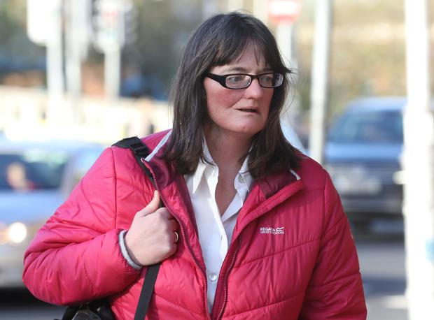 Tracy Lynch (48) of River Forest, Leixlip, Co Kildare, pictured leaving the Four Courts yesterday(Wed) after she was awarded €25,000 damages following a Circuit Civil Court action. Photo: Collins Courts