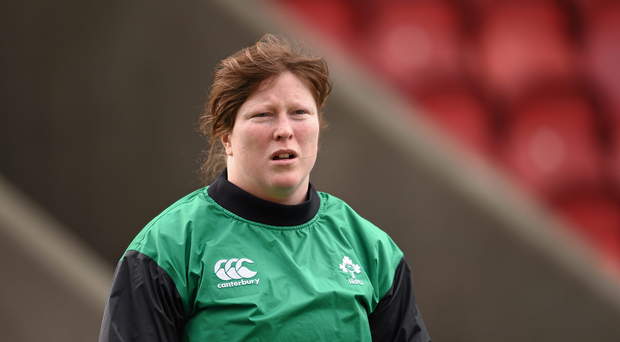 Ruth O'Reilly, Ireland. Women's Six Nations Rugby Championship, Scotland v Ireland. Broadwood Stadium, Clyde FC, Glasgow, Scotland. Picture credit: Stephen McCarthy / SPORTSFILE