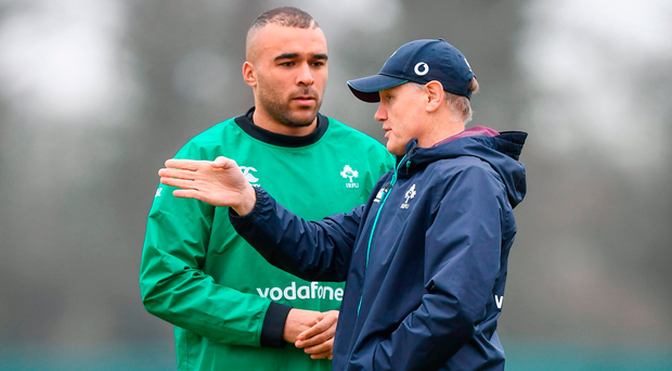 Joe Schmidt must decide whether to include Simon Zebo in his upcoming squad with the Munster man set for a move to France. Photo: Sportsfile