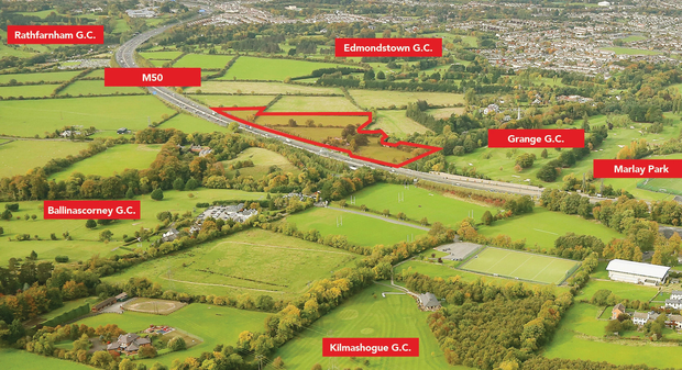 The highest-value land lot is a site in Rathfarnham, in Dublin 16. Located next to the M50, the site extends to 10.7 acres and is zoned residential, The guide price is €2.75m.