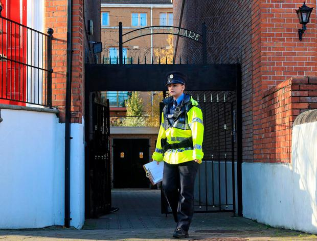 Gardai at Dorset Square, Dublin 1. Photo: Colin Keegan / Collins Dublin