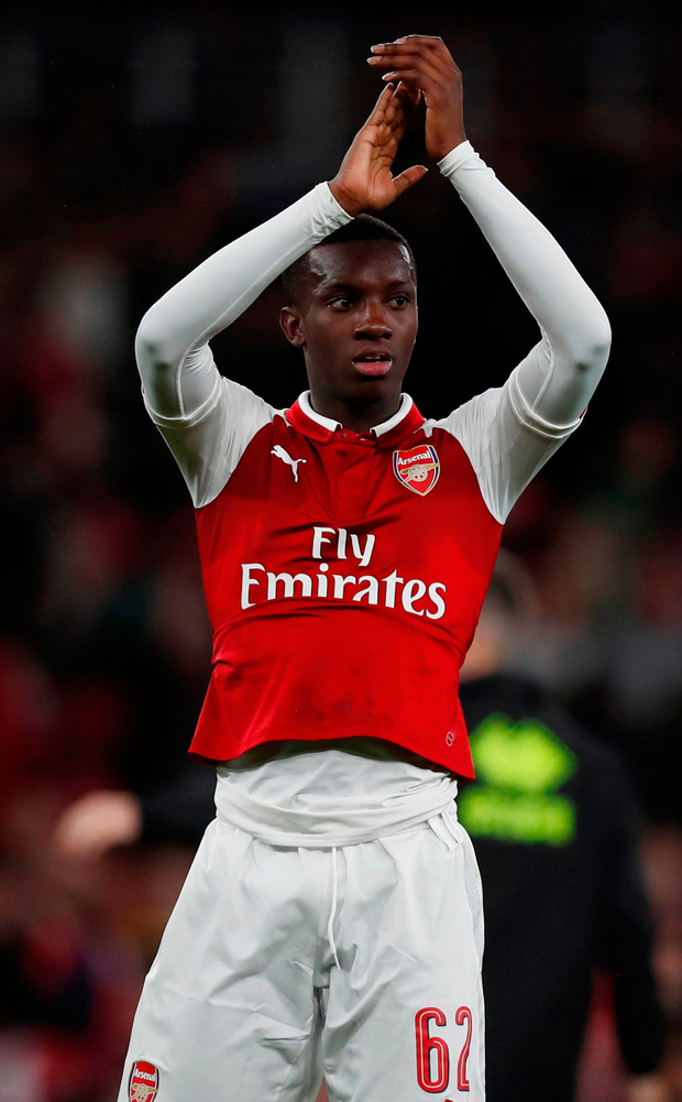 Arsenal's Eddie Nketiah. Photo: Reuters