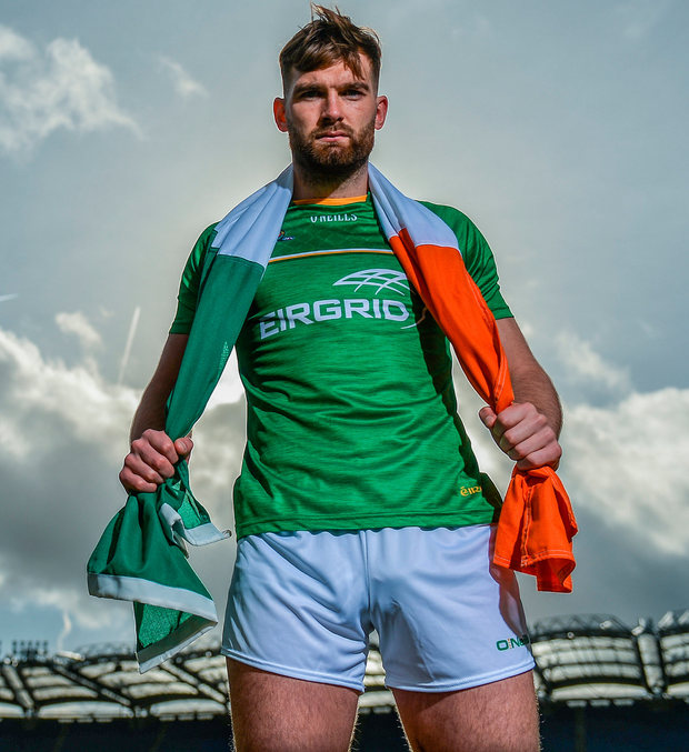 Ireland captain Aidan O'Shea in Croke Park yesterday for the International Rules squad announcement. Photo: Sportsfile