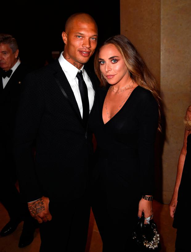 Model Jeremy Meeks (L) and Chloe Green attend 2017 Princess Grace Awards Gala at The Beverly Hilton Hotel on October 25, 2017 in Beverly Hills, California. (Photo by Kevin Winter/Getty Images for Princess Grace Foundation - USA)