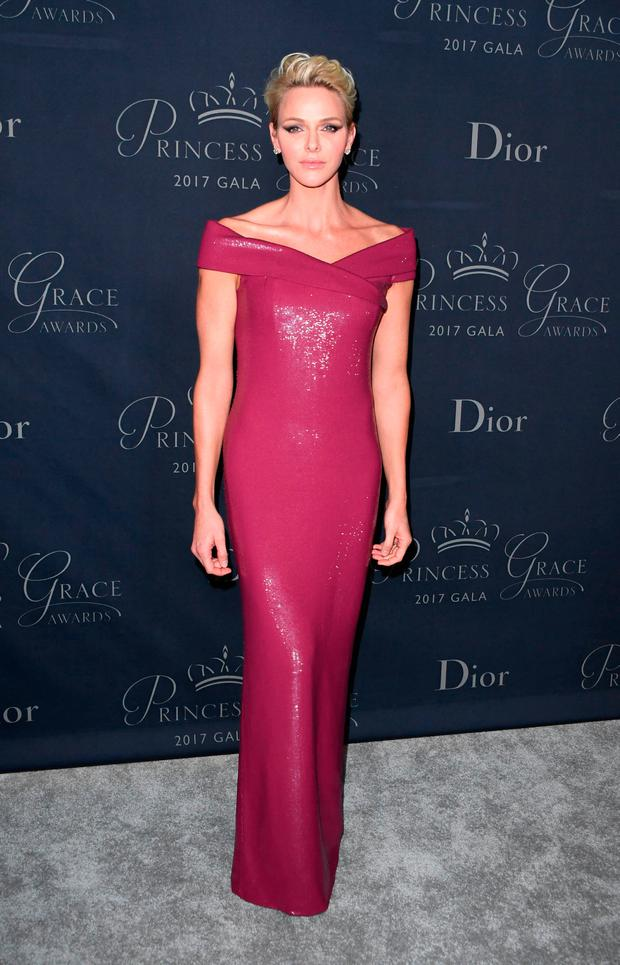 Princess Charlene of Monaco attends the 2017 Princess Grace Awards Gala at The Beverly Hilton Hotel, Beverly Hills, California on October 25, 2017. / AFP PHOTO / Mark RALSTONMARK RALSTON/AFP/Getty Images