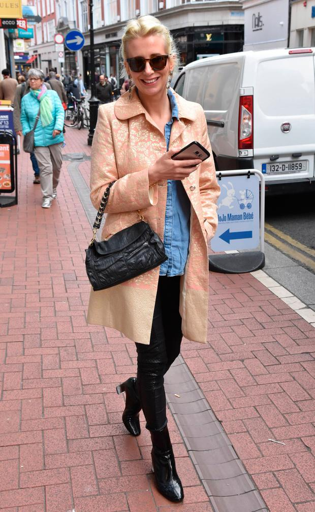 Aisling O'Loughlin spotted on Wicklow Street